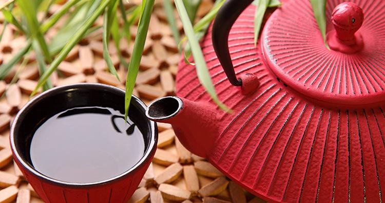 Japanische Gusseisen Teekanne